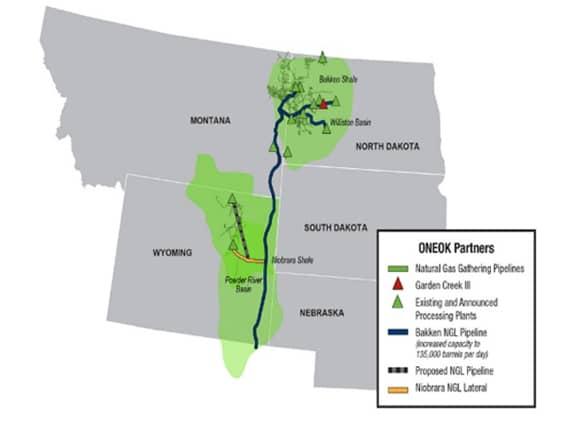 map of Montana - Wyoming - Dakotas, Nebraska